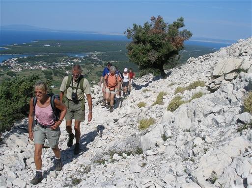 På vej mod bjergtoppen Vožac