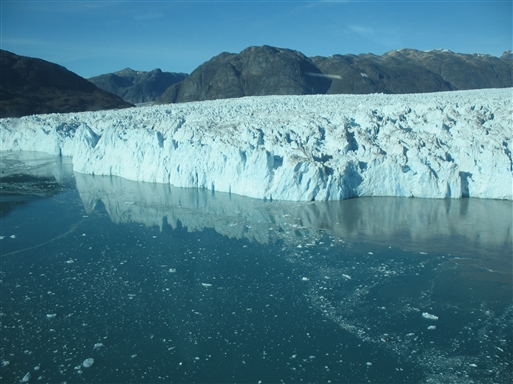 Bræfronten ved Eqalorutsit gletsjeren
