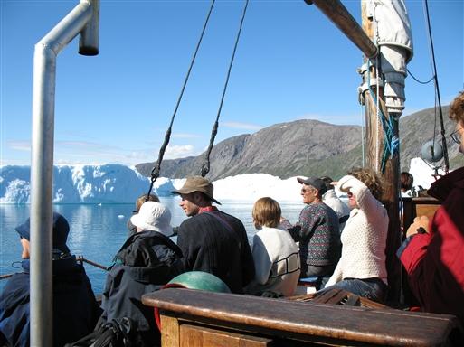 Isfjordssejlads på Eriksfjord
