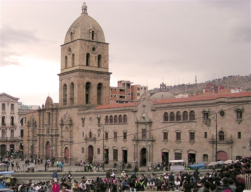 Plaza San Francisco i La Paz.