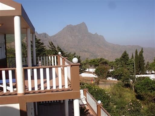 Udsigt til Pico d'Antonia fra hotellet på Santiago