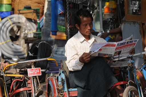 Nye tider i Burma, masser af ucensurerede aviser.