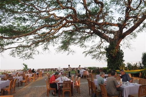 Morgenmad på det gode hotel i Bagan