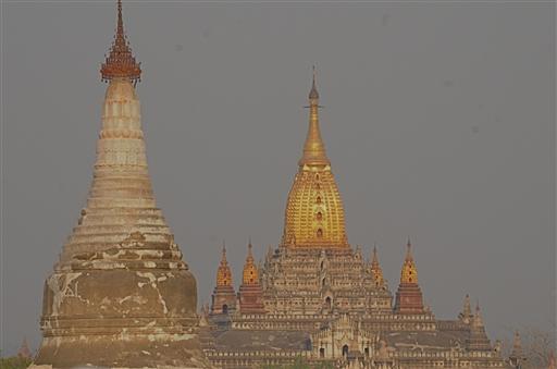 Solnedgang over Bagan