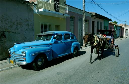 En af de flotte gamle biler fra 40erne.