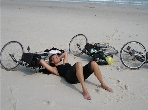 Afslapning efter cykelturen.