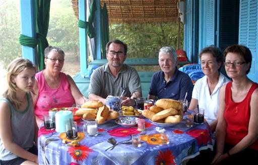 Franske baguettes hos det private bosted på Ong Ho Island.