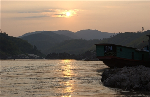 Solnedgangene over Mekong er en oplevelse - hver gang!