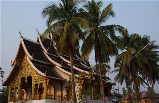 Luang Prabang er enestående med sine mange smukke pagoder.