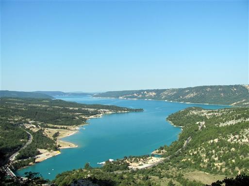 Udsigt over Lac de Saint Croix
