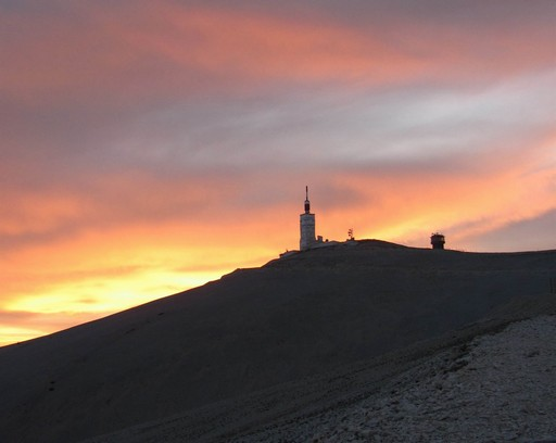 Solnedgang over Mont Ventoux