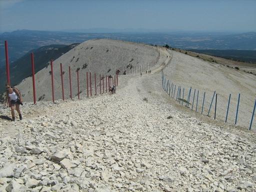 Sidste stigning før toppen på Mont Ventoux