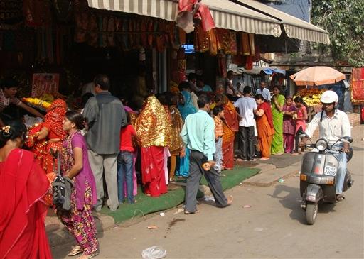 Gadebillede fra New Delhi