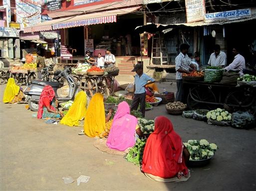 Grøntsagsmarked i Pushkar.