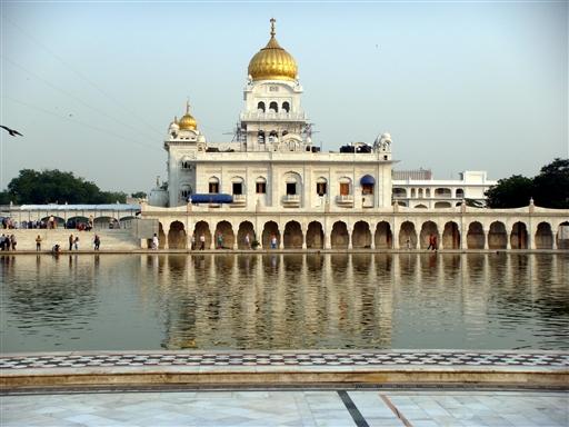 Sikhtemplet i Delhi.