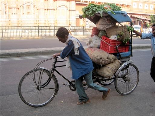 En cykelrickshaw kan bruges til mange formål.