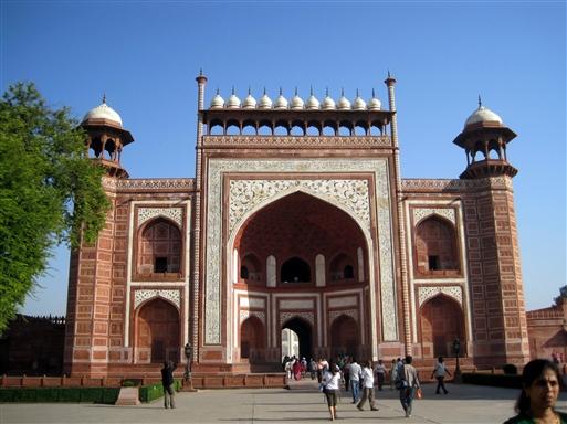 Indgangsparti Taj Mahal