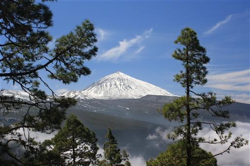 Pico del Teide dækket i sne