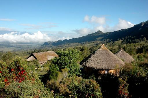 De hyggelige bungalows i Baliemdalen ligger smukt midt i uberørt natur
