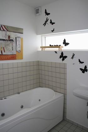 Små ting pifter et bart badeværelse lidt op...