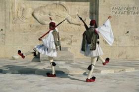 Vagtskifte på Syntagma pladsen - Athen