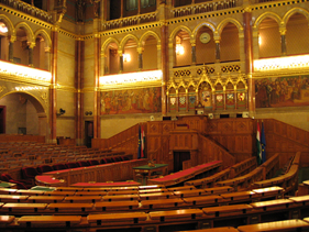Parlamentet i Budapest, indenfor