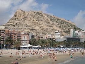 Stranden i Alicante