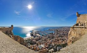 Udsigt over Alicante