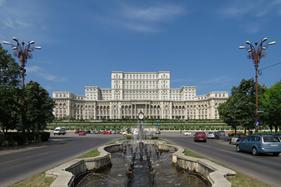 Parlaments paladset i Bukarest