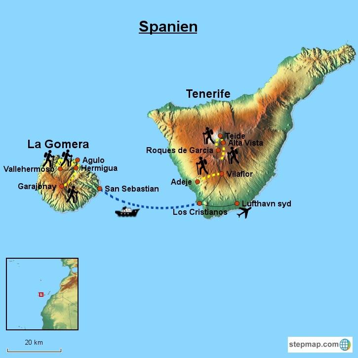 spanske øer map