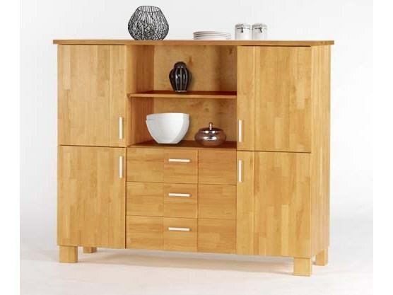 highboard milan aus kiefer massiv buchefarben. Black Bedroom Furniture Sets. Home Design Ideas