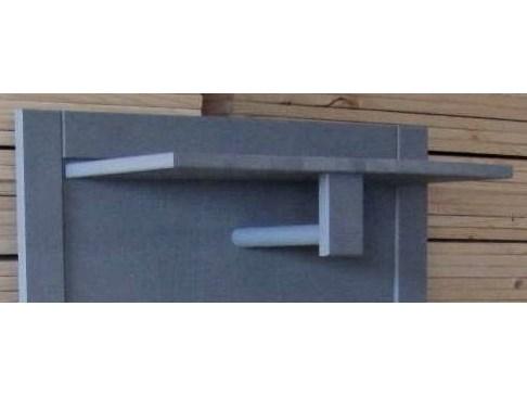 Garderobenpaneel neptune aus kiefer massiv in grau for Garderobenpaneel grau