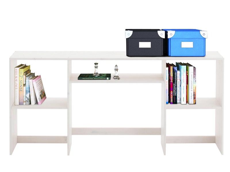 b cherregal in wei aus massivholz mit t ren dreier11 bild 2 pictures to pin on pinterest. Black Bedroom Furniture Sets. Home Design Ideas