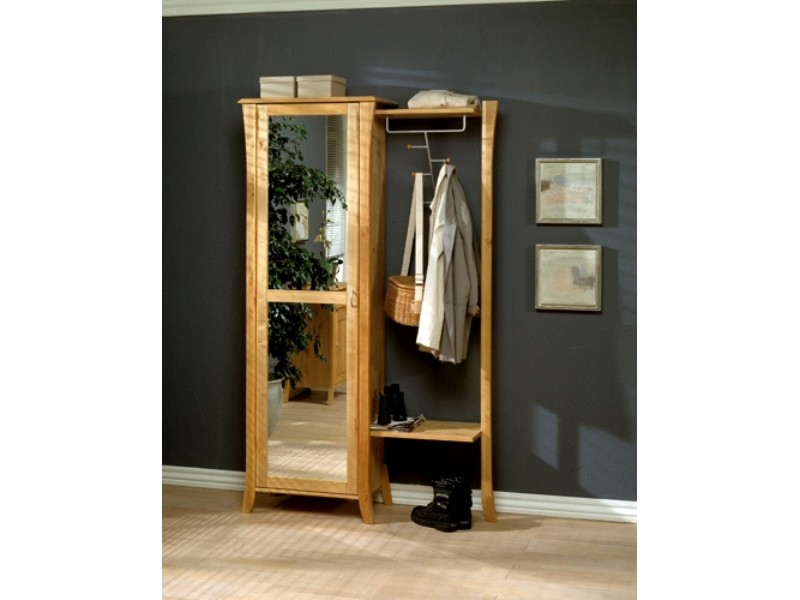 garderobe zweiteilig alexandra aus birke massiv ge lt. Black Bedroom Furniture Sets. Home Design Ideas