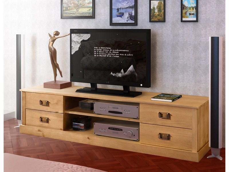 Kommoden Kiefer Geolt  TVLowboard MILANO groß aus Kiefer massiv in