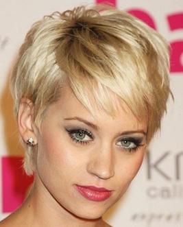 frisure med kort hår