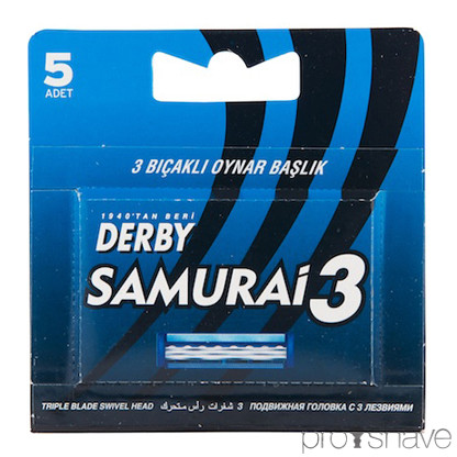 Derby Samurai 3 - Cartridge med 5 udskiftelige blade