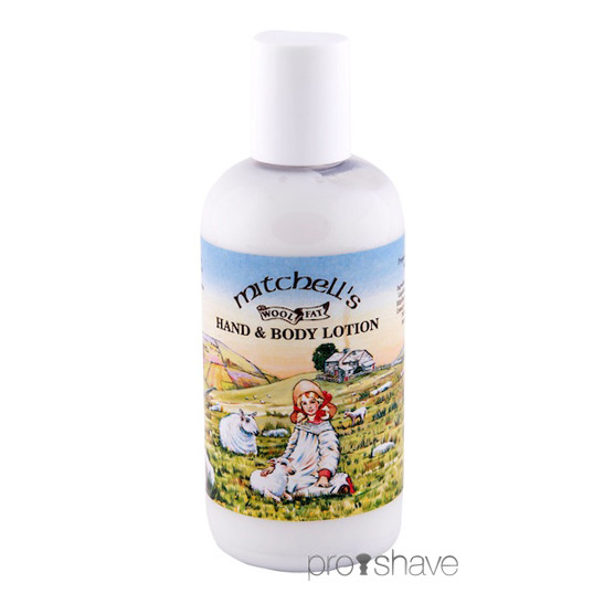 Mitchell's Wool Fat Hand & Bodylotion, 150 ml., med parfume