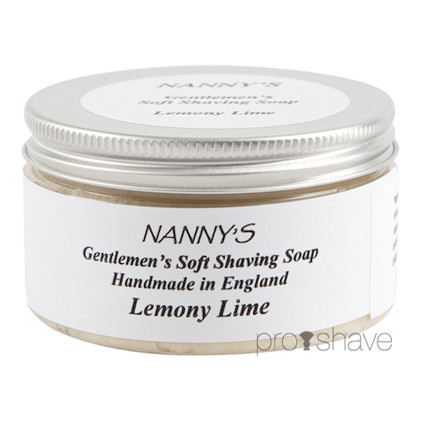 Nanny's Silly Soap Lemony Lime (m. gedemælk) Barbersæbe, 100 gr.