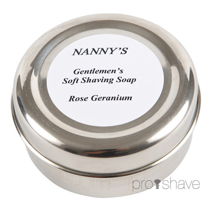Nanny&#39;s Silly Soap Rose Geranium Luksus-Barbersbe, 120 gr.