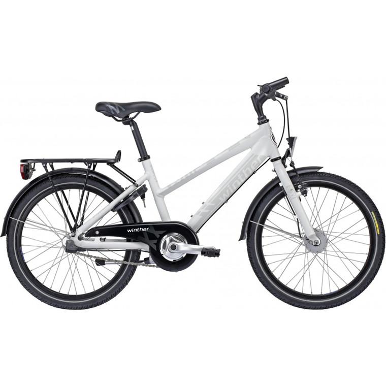 "Winther 350 Dirt - 20"", 24"" - Sandblast hvid pigecykel - 2015"