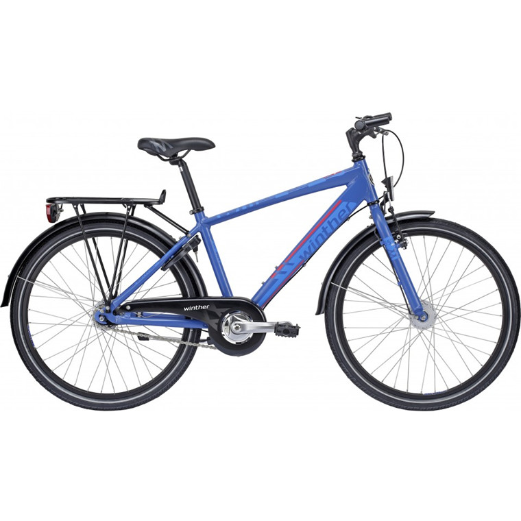 "Winther 350 Dirt 7g - 24"" - Navy blå drengecykel - 2015"