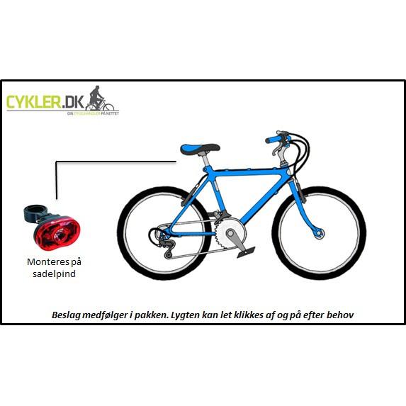 Smart - Super Flash cykel Baglygte.