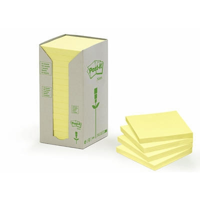 POST IT 654-1T GUL GENBRUG 76 X 76 MM