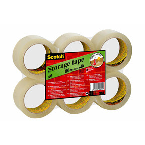 3M Scotch Classic packaging tape transparent 50mmx66m flat pack