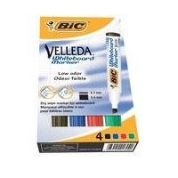 WB MARKER BIC VELLEDA ETUI /4 STK