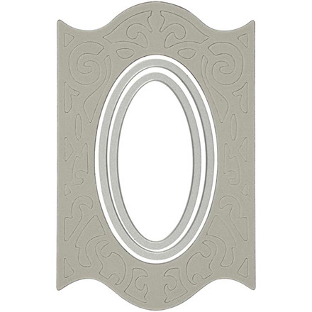 Skreskabelon, 3,5x7,6 - 8,9x14 cm, oval ramme, 1 stk.