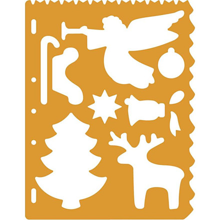 Skæreskabelon, ark 21x28 cm, jul, 1 stk.