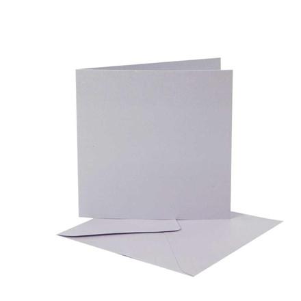Perlemorskort, 12,5x12,5 cm, lys lilla, 10 sæt