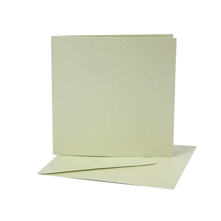 Perlemorskort, 12,5x12,5 cm, mint grøn, 10 sæt